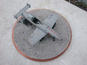 Top view with base